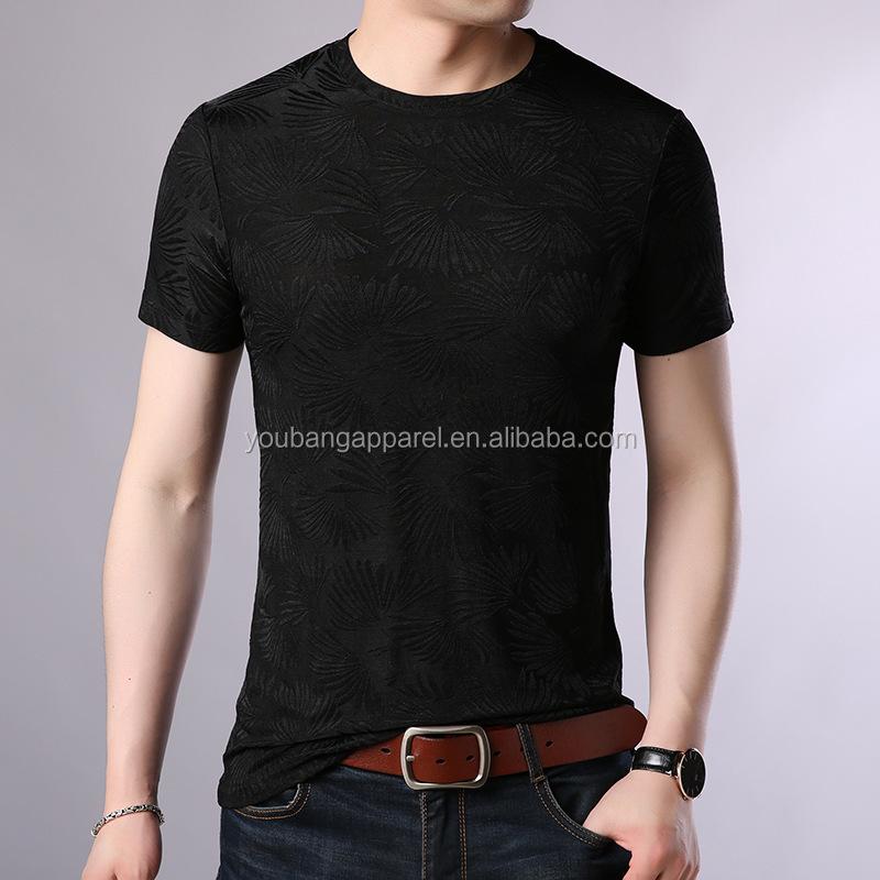 2019 summer o neck short sleeve high quality man's fashion t-shirt bronze pattern classic casual black sweatshirts jersey