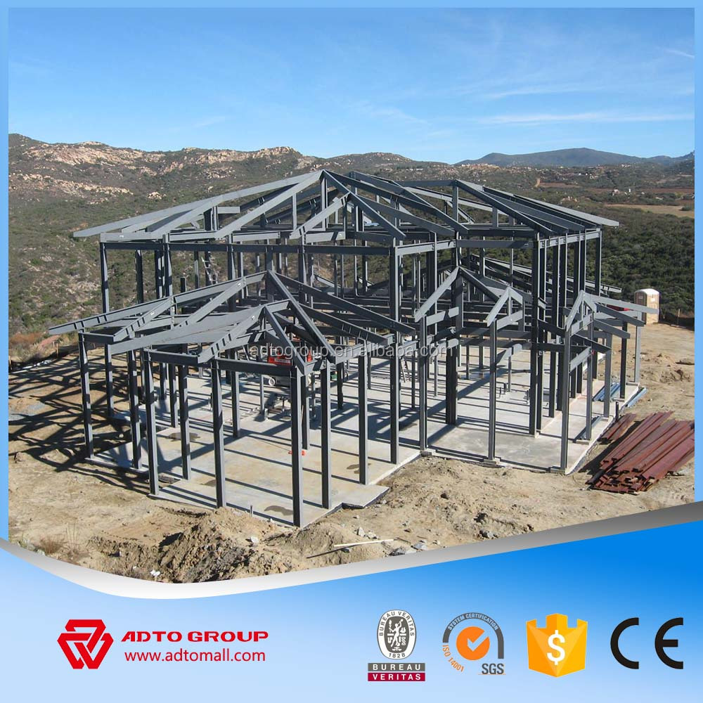 ADTO China Manufacturer Steel Building Structure Light Design Warehouse Workshop Car Parking Garage Roofing With Drawings 2016