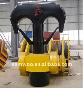 Widely used best quality 80t/100t/150t crane hook for sale