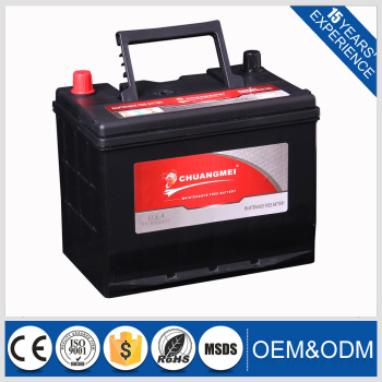 Manufacturer MF80D26L BETN-I MF Type 12v car battery specifications