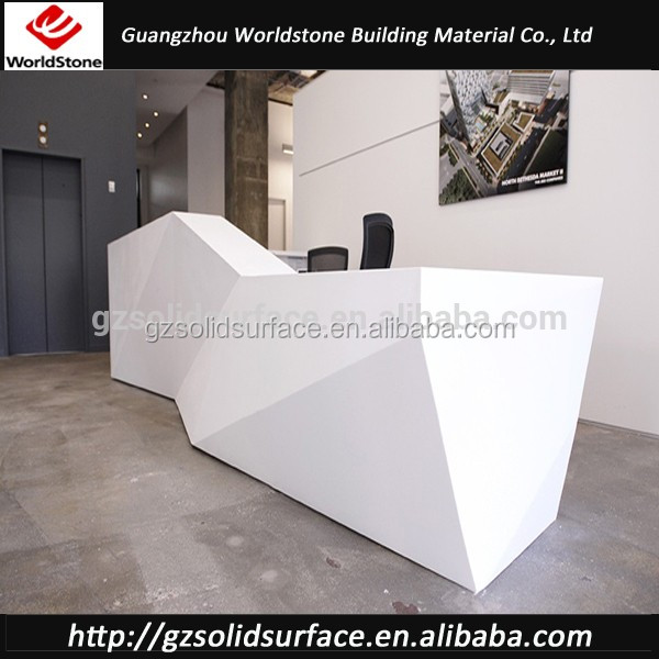 Artifical Marble Salon Reception Counter Front Desk Design