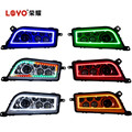 Top Quality!!! RGB High/Low Beam 30w/15w Headlight For ATV with RGR Angel Eyes Control by APP WIFI Bluetooth Only Made By LOYO