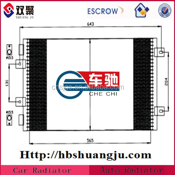 OEM Factory Air Car Evaporative Condenser