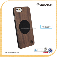 Unique design wood back cover case for iphone 6 plus , wood mixed mobile case , wholesale wood mobile phone case for iphone