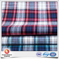 yarn dyed plaid cotton flannel fabric for making clothes