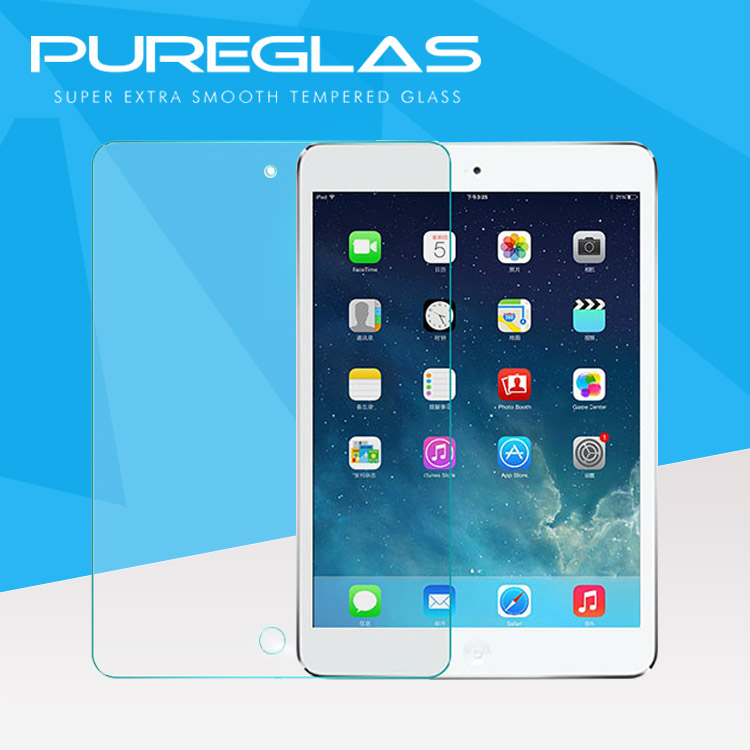 Ultra clear Waterproof Anti-shock 0.26mm 9H 2.5D Tempered glass screen protector for iPad mini 1/2/3