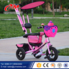 Manufacturer Custom Children Tricycle with Trailer/wholesale Trike Children Tricycle rubber wheels/Children Tricycle for twins