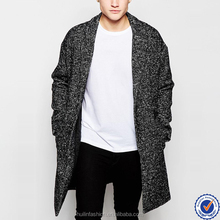 wholesale clothing mens fashion overcoat functional pockets grey wool winter coat men