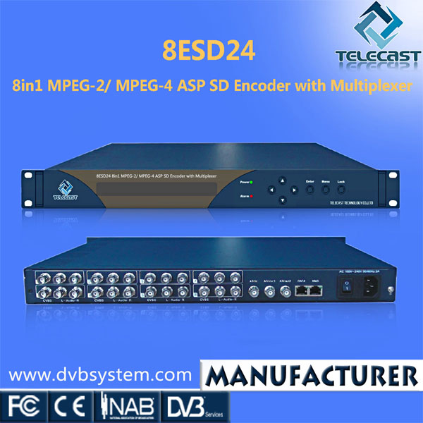 Warmly welcomed 8 in 1 MPEG-2/MPEG-4 SD IPTV Encoder