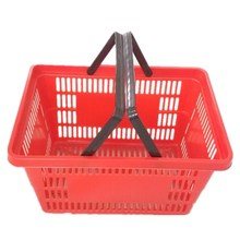 Colorful hand carry supermarket plastic basket