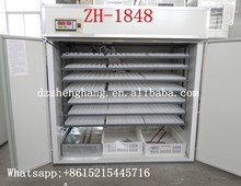 Made in China CE approved 1848 chicken egg incubator used for industrial chicken hatching