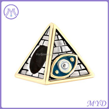 2 Tones Plated Antique Masonic Evil Eye On Egyptian Pyramids Beads For Bracelet