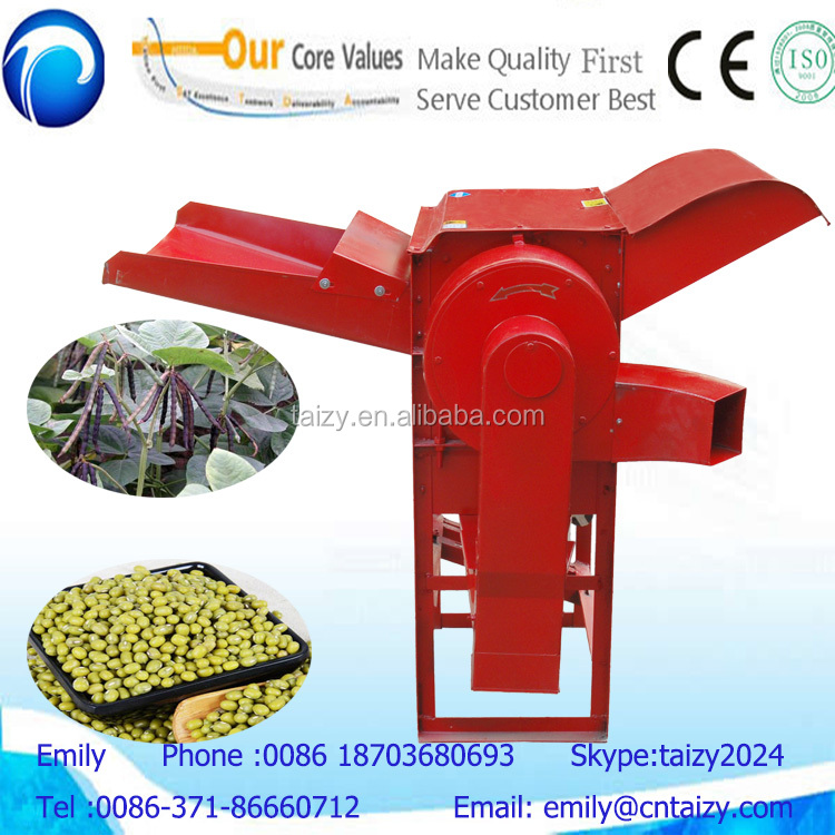 good quality small mung bean thresher machine with diesel engine