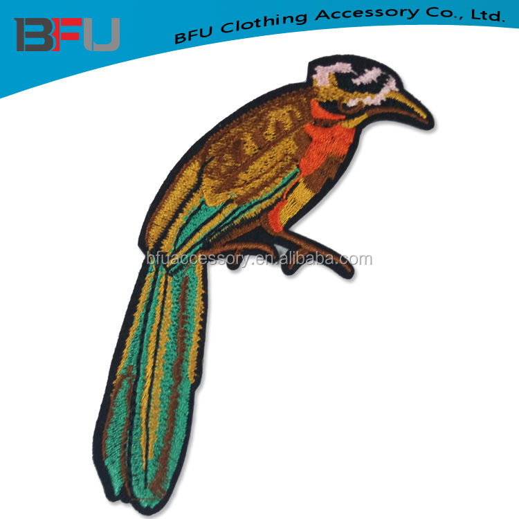 Iron on embroidery patch birds for clothing