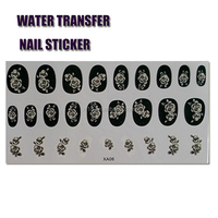 OEM factory price brand custom water transfer art 3d nail sticker nail wrap