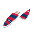 Promotion gift item ABS plastic material customized full color logo printed 4GB surfboard shape usb key