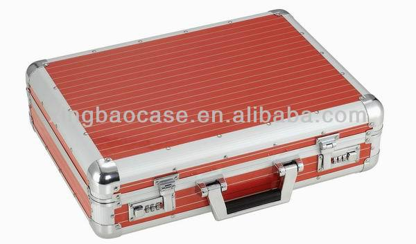 Aluminum case for the new ipad suitcase with file pocket XB-BF01