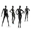 High glossy black color fiberglass abstract fashion shop window display female sexy dummy women mannequin full body for sale
