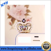 wholesale handmade cell phone crown dust plugs for iphone