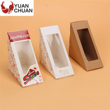 Wooden go to triangle box for packaging sandwich