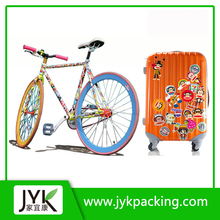 OEM die cut custom sticker paper for luggage sticker