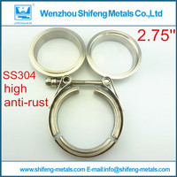 2.75'' V band clamp with male and female flanges