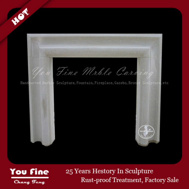 Indoor Used Carrara White Marble Fireplace