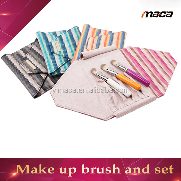 3pcs msq makeup brush set mini make up brush set with pouch for make up