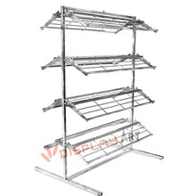 double side 8 rows shoe display rack