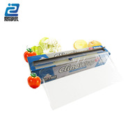 pe/ PVC plastic cling Wrapping Film with dispenser cutter