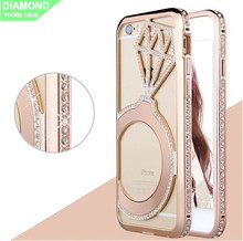 blank diamond / rhinestone mobile phone cover for Iphone 6