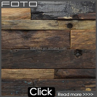 Salvaged Wood Planks Interior Wall Tile Decoration Panel Reclaimed Barn Wood Mosaic