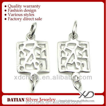 XD P317 925 sterling silver square earring parts silver for earrings