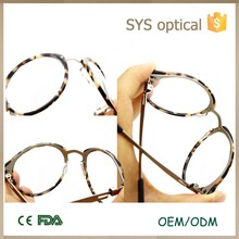 Good quality new model acetate elastic metal eye optical glasses frame