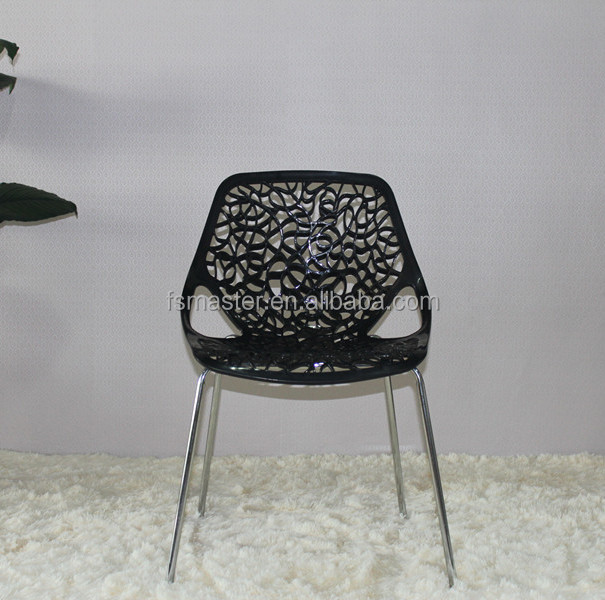 Replica wholesale steel frame plastic tree chair birch for Plastic side chair replica