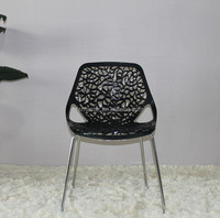Replica wholesale steel frame plastic tree chair Birch Sapling accent/Dining chair wholesale Stencil Dining Side Chair