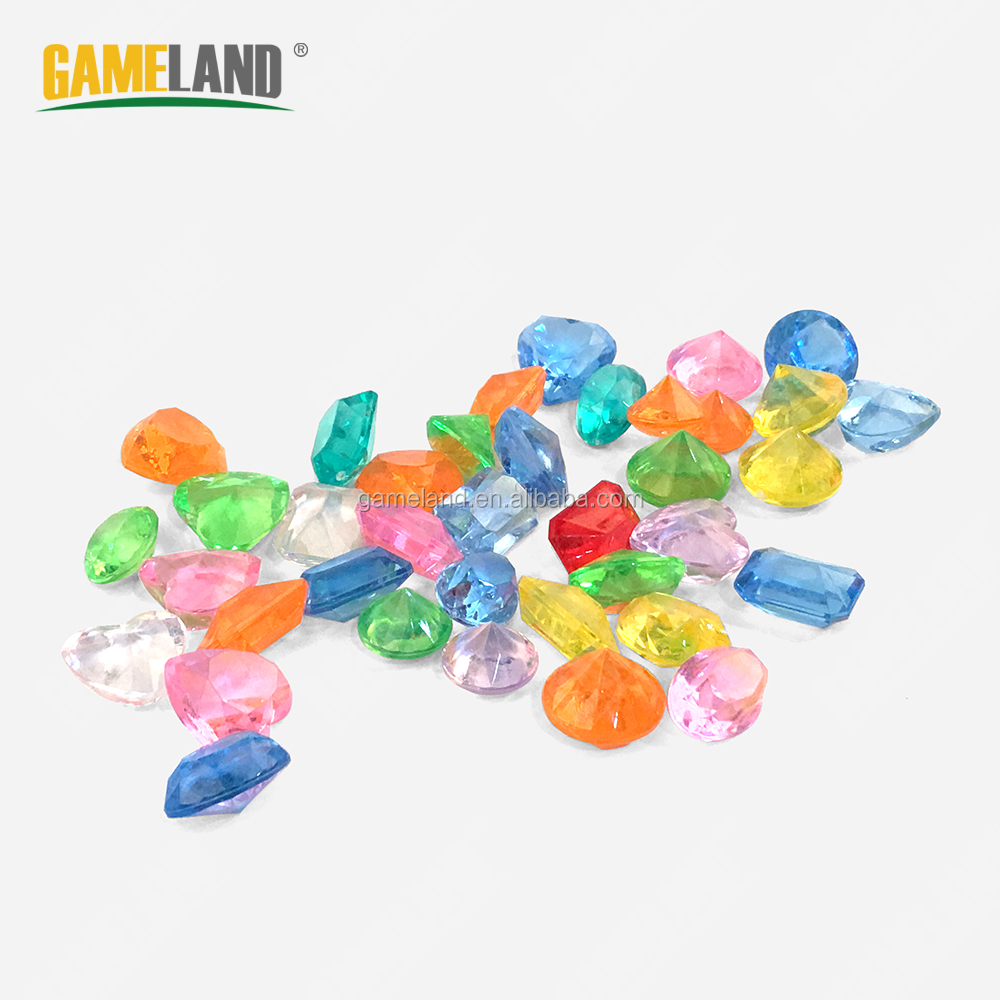 Custom Colorful Plastic Gems Board Game Accessory Clear Plastic GemsClarity Game Token