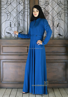 0262 blue jersey flared cheap abaya wholesale 2016