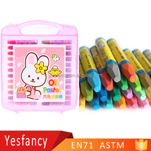 best selling 18pcs non toxic plastic case oil pastel crayon wax bulk