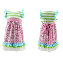 Spring boutique girl clothes easter hot dress pakistani children frocks designs full-length ruffle flower fancy dress costumes
