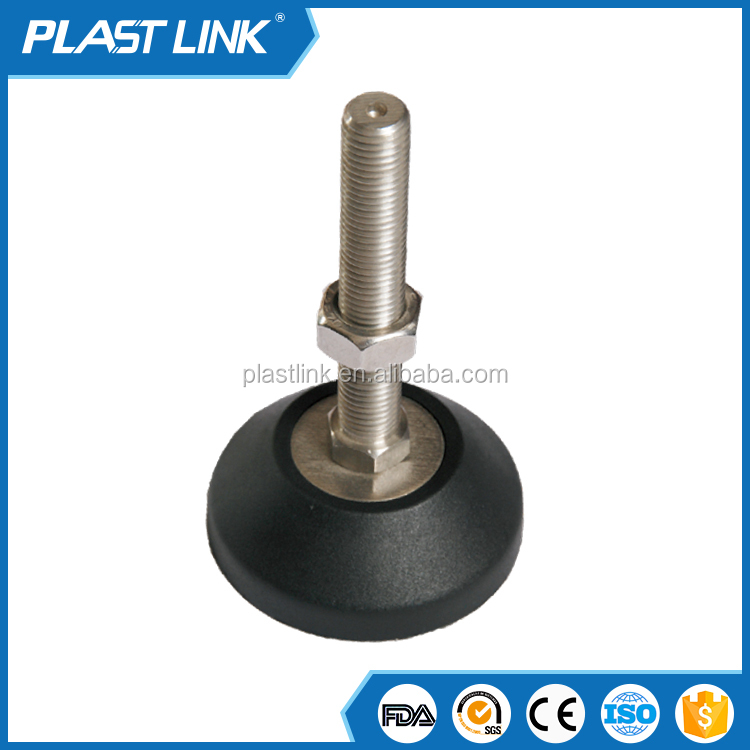 conveyor plastic adjustable leveling Articulated Feet Moulded feet with threaded spindles
