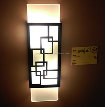 New design wall mounted decorative lamp,modern wood wall bracket light with glass lamp shade (1104-2L)
