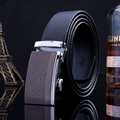 2017 men's leather belts designer casual automatic belt buckle waist strap black
