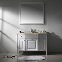 Free standing white high gloss new design bathroom furniture V32205Y-W