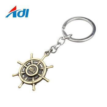 Promotional metal custom metal 2d key chain chaveiro key ring