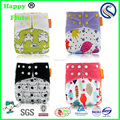 Happy Flute wholesale washable baby nappy one size cloth diaper with excellent quality