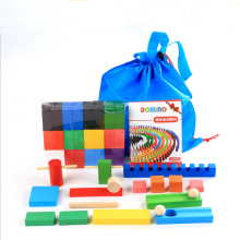 Color Wooden Domino Child Wood Toys Domino Game System Standards
