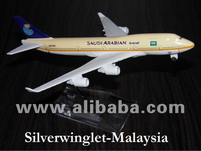 Saudi Arabian Airlines Boeing B747-400 Diecast Aircraft Scale Model