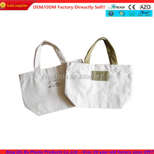 Cultural design natural blank canvas wholesale tote bags