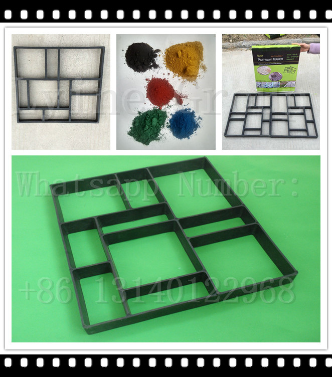 DIY Plastic Path Maker Mold Manually Paving Cement tile Stone block moulds for path